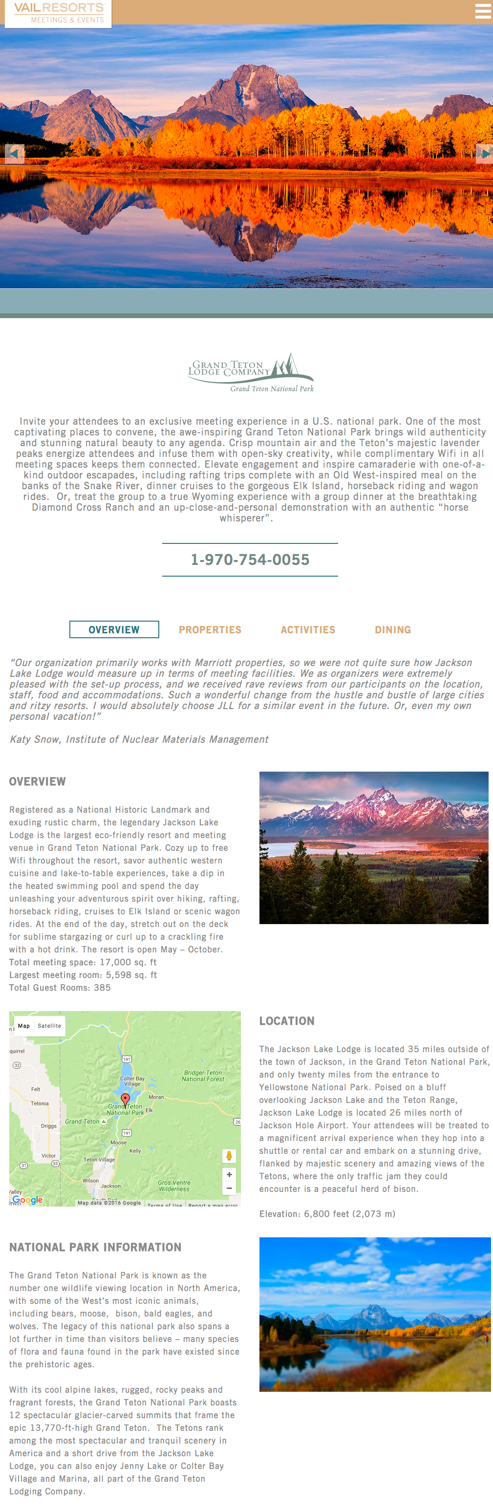 Grand Teton Meetings Page