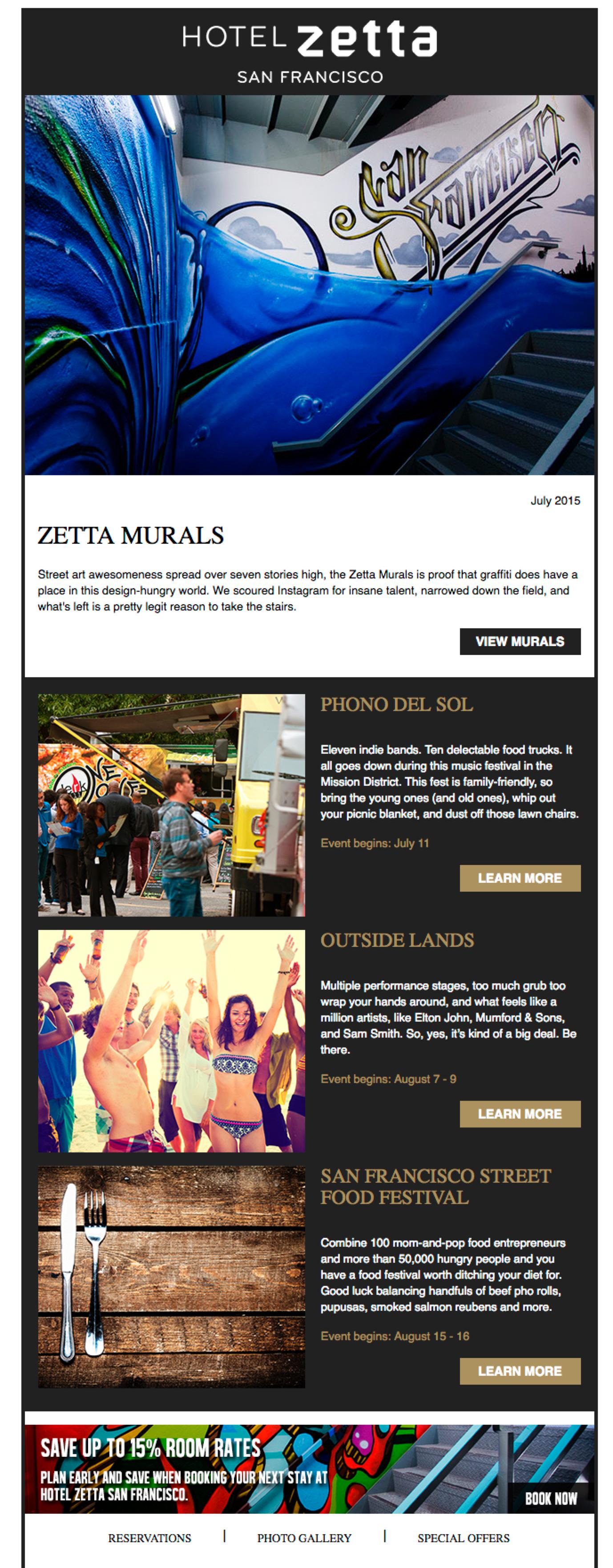 Hotel Zetta Email